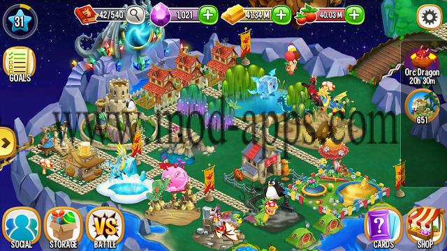 تحميل لعبة dragon mania مهكرة جاهزة للاندرويد